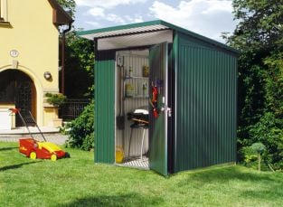 Avant Garde Green 5ft 9in x 5ft 9in Heavy Duty Galvanised Steel Shed