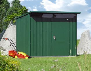Avant Garde Green 8ft 5in x 11ft Heavy Duty Galvanised Steel Shed