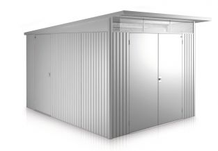 Avant Garde Silver 8ft 5in x 11ft Heavy Duty Galvanised Steel Shed