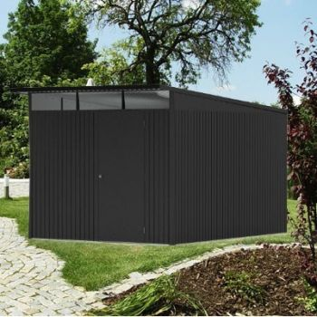 Avant Garde Grey 8ft 5in x 11ft Heavy Duty Galvanised Steel Shed