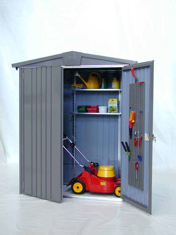 Europa Quartz Grey 5ft x 2ft 8in Heavy Duty Galvanised Steel Shed