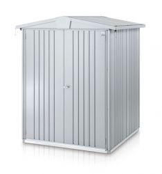 Europa Silver Metallic 5ft x 5ft Heavy Duty Galvanised Steel Shed