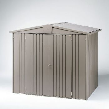 Europa Quartz Grey 7ft 5in x 5ft Heavy Duty Galvanised Steel Shed