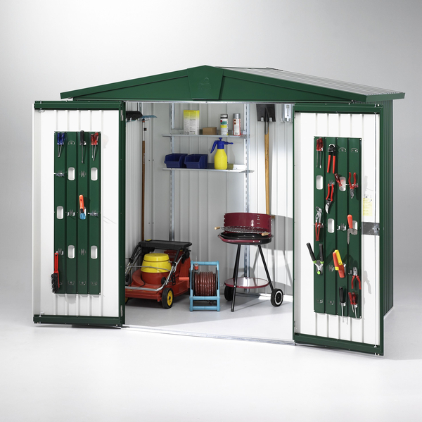 Europa Dark Green 7ft 5in x 2ft 8in Heavy Duty Galvanised Steel Shed