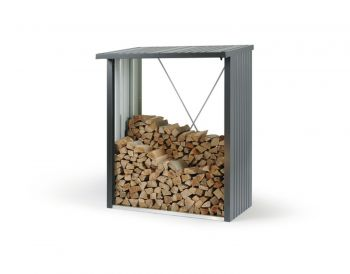 Woodstock 150 Dark Grey Heavy Duty Galvanised Steel Log Store