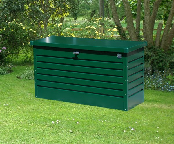 Leisure Time 100 Green Galvanised Steel Garden Storage Box W101cm