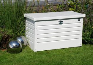 Leisure Time 100 White Galvanised Steel Garden Storage Box W101cm