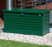Leisure Time 130 Green Galvanised Steel Garden Storage Box W134cm