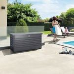 Leisure Time 130 Grey Galvanised Steel Garden Storage Box W134cm