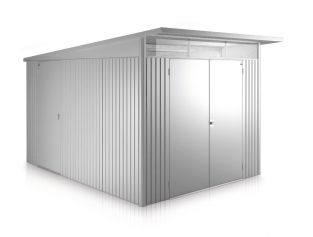 Avant Garde Silver 8ft 5in x 11ft Double Door Galvanised Steel Shed