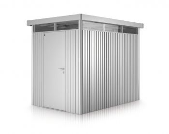 Highline Metallic Silver 8ft 5in x 5ft 9in Heavy Duty Galvanised Steel Shed with Single Door