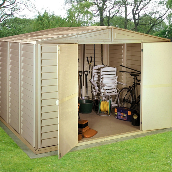 Woodbridge 10ft x 8ft Vinyl Storage Shed