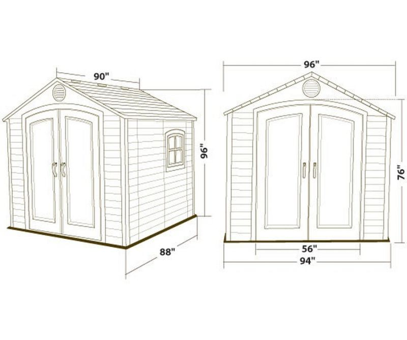 Lifetime 8ft x 7ft 4in Plastic Shed