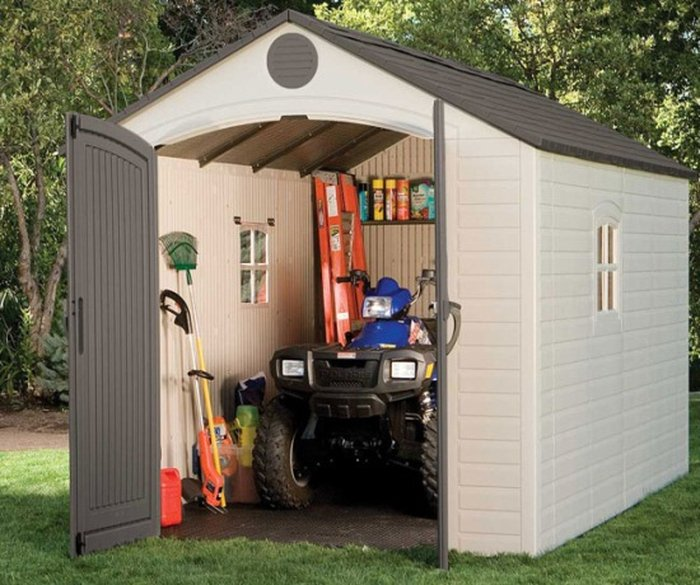 Lifetime 8ft x 12ft 4in Plastic Shed