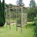 Tethys 2.4m (7ft 10½in) Timber Garden Arbour and Arch Paregola