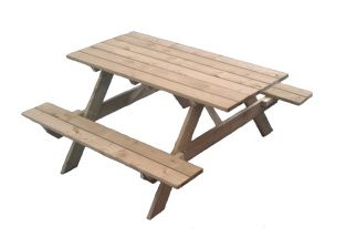 Wooden Garden Picnic Table 1.75m x 1.5m