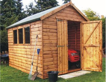 Markham Heavy Duty Apex Workshop Shed 10 x 8