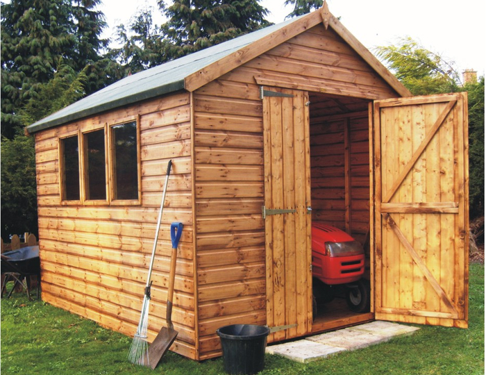 Markham Heavy Duty Pent Workshop Shed 8 x 16