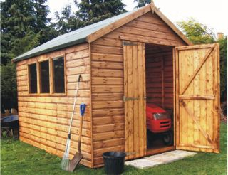 Markham Heavy Duty Pent Workshop Shed 8 x 20