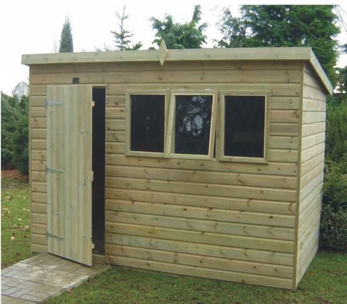 Tanalised Heavy Duty Apex Workshop Shed 16 x 8