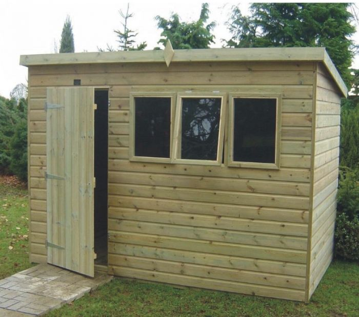 Tanalised Heavy Duty Pent Workshop Shed 6 x 10