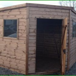 Contemporary Corner Shed 7 x 7
