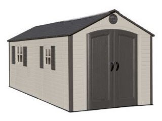 Lifetime 8x15ft Special Edition Plastic Shed