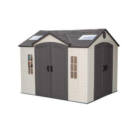 Lifetime 10x8ft Dual Entrance Plastic Shed
