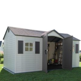 Lifetime 15x8ft Single Entrance Plastic Shed