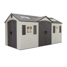 Lifetime 15x8ft Dual Entrance Plastic Shed