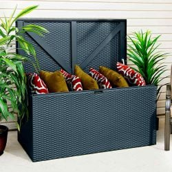 130cm Rattan Metal Deck Storage Box by Rowlinson®