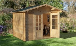 Bradnor Log Cabin 3.0m x 2.5m (9.8 x 8.2ft)