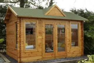 Alderley Log Cabin 4.0m x 3.0m (13.12 x 9.8ft)
