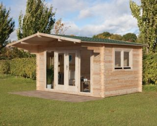 Abberley Log Cabin 4.0m x 3.0m (13.12 x 9.8ft)