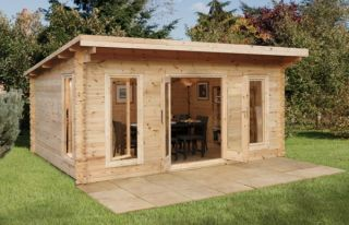 Mendip Log Cabin 5.0m x 4.0m (16.4 x 13.12ft)