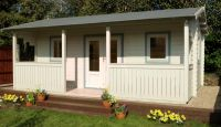 Harlech Log Cabin 5.0m x 4.0m (16.4 x 13.12ft)