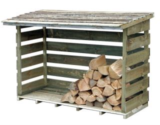 1.29m (4ft 3in) Garden Woodstore