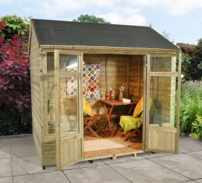 Kempsford Summerhouse - Shiplap Reverse Apex Roof - 8x6ft