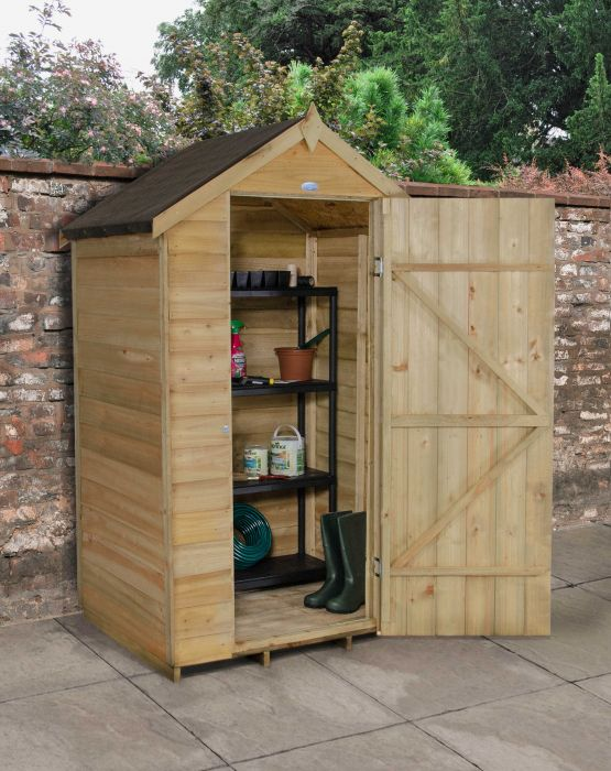 Apex Overlap Shed without Window - Pressure Treated -4 x 3 ft