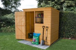 Shiplap Dip Treated Pent Shed - 4 x 6ft