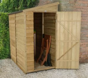 Overlap Pressure Treated Wall Shed - 6 x 3ft