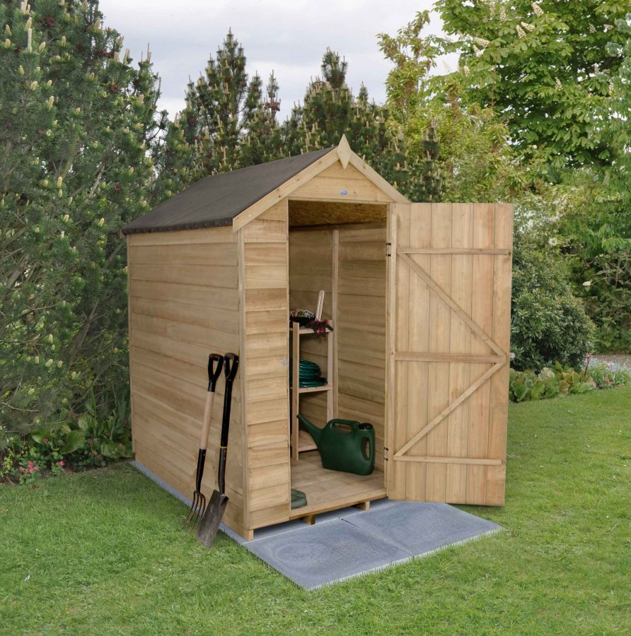 Overlap Pressure Treated Apex Shed (No Windows) - 4 x 6ft