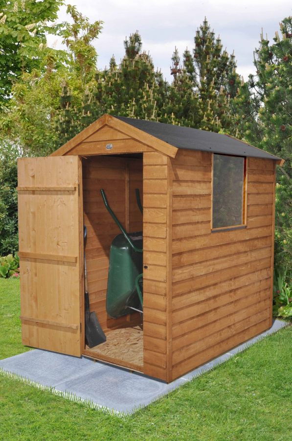 Overlap Dip Treated Apex Shed (Easy Fit Roof) - 4 x 6 ft