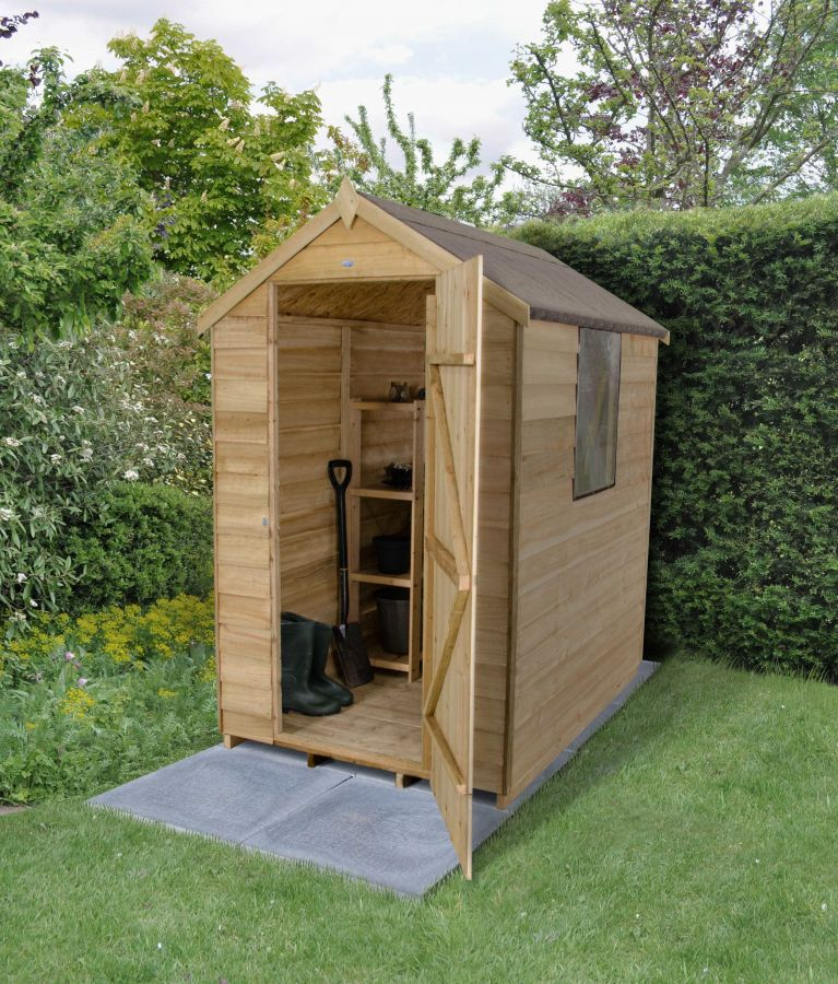 Apex Overlap Pressure Treated Shed 6 X 4ft 163 242 99