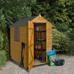 Apex Overlap Pressure Treated Shed with Lean To - 6 x 4ft