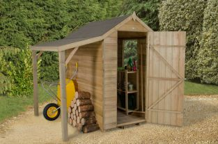 Apex Shiplap Pressure Treated Shed - 6 x 4ft