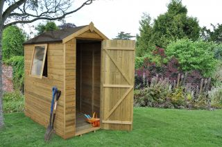 Apex Overlap Dipped Shed - 5 x 7ft
