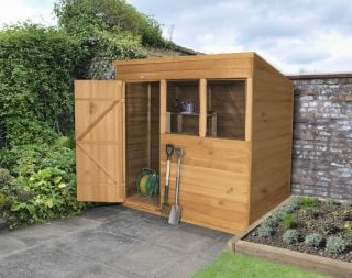 Pent Overlap Dipped Shed - 7 x 5ft
