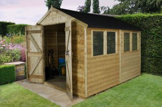 Tongue & Groove Workshop (Double Doors) - 10x8ft