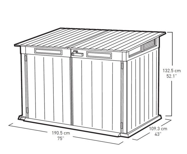 Keter Grande Store 720L Storage Shed and Bin Store in Duotech™